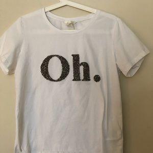 Oh glitter white basic shirt!👚